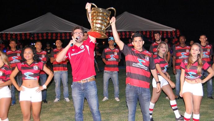 Apresentação elenco Campinense (Foto: Silas Batista / Globoesporte.com/pb)