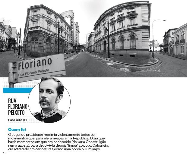 Rua Floriano Peixoto (Foto: Rogério Cassimiro/ÉPOCA e reprodução)