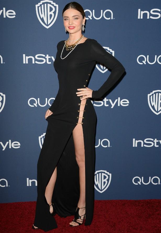 A australiana Miranda Kerr numa festa pós-Globo de Ouro 2014. (Foto: Getty Images)