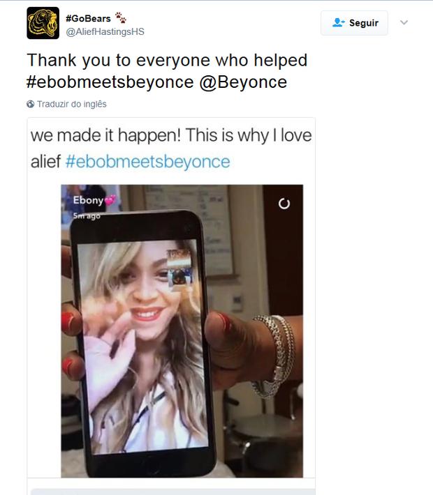 Beyoncé realiza desejo e liga para fã com câncer terminal