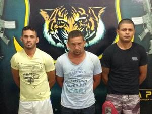 Suspeitos foram presos no Centro de Boa Vista (Foto: Dicap/Divulgação)