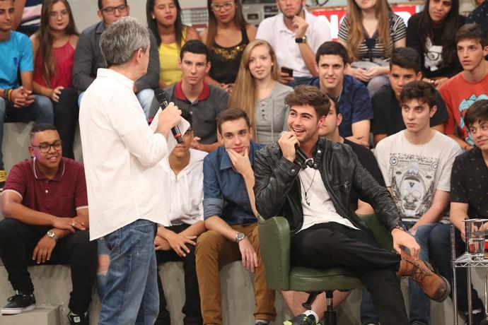 Rafael Vitti participa pela segunda vez do 'Altas Horas' (Foto: Carol Caminha/Gshow)