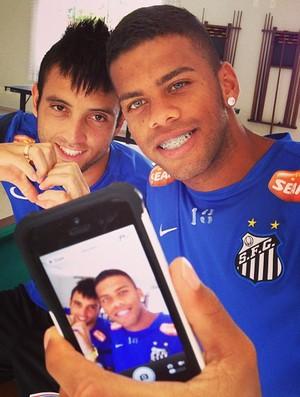 Felipe Anderson e Paulo Henrique, no Santos (Foto: Reprodução  / Instagram)