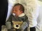 Camila Moura mostra rosto de seu filho recém-nascido: 'Meu menino'