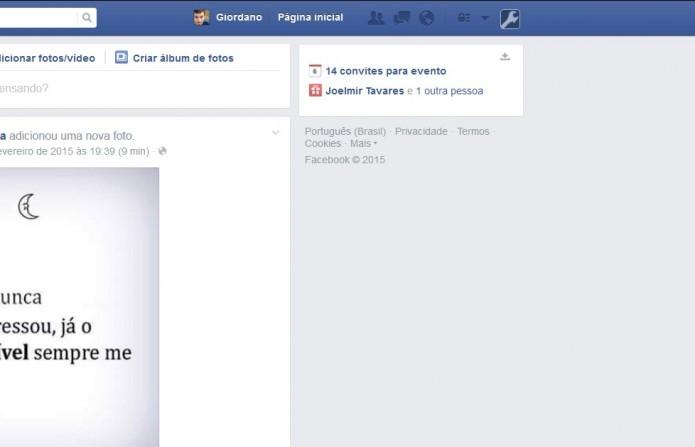 Com o AdBlock Plus, os anúncios somem do Facebook (Foto: Reprodução: Giordano Tronco)
