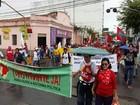 Centrais sindicais fazem caminhada em Maceió pelos direitos trabalhistas