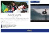 Gabriel Medina concorre ao pr�mio de melhor atleta do ano da SportAccord
