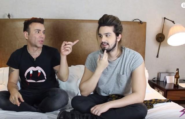 Matheus Mazzafera e Luan Santana (Foto: Reprodução/ Youtube)