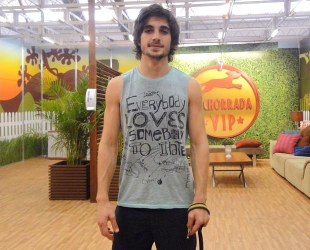 Fiuk revela segredo da boa forma (Foto: Domingão do Faustão / TV Globo)