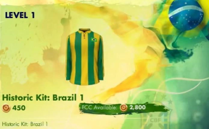 Copa do Mundo Fifa 2014 terá camisa listrada da seleção brasileira (Foto: Reprodução / TechTudo)