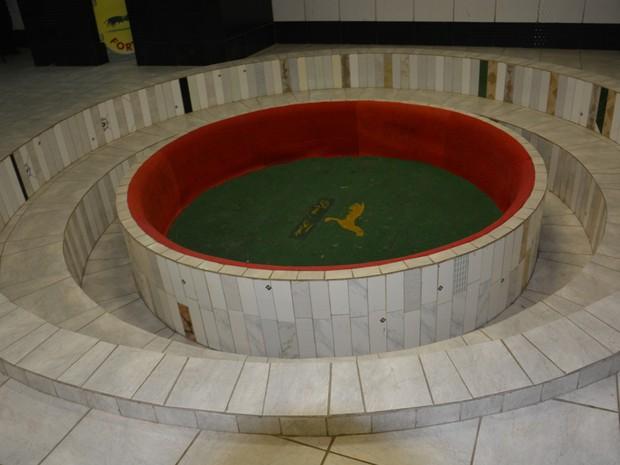 Arena onde aconteciam as rinhas em galpão de Gravatá (Foto: Divulgação/ PF)