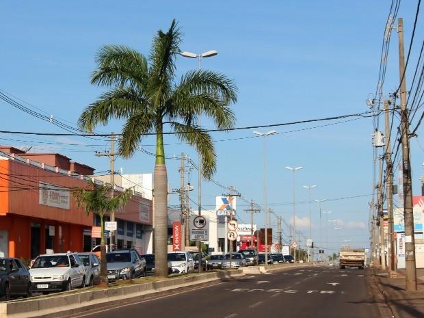 Tempo em Campo Grande na tarde desta quinta-feria (19) (Foto: Fernando de Oliveira/G1 MS)