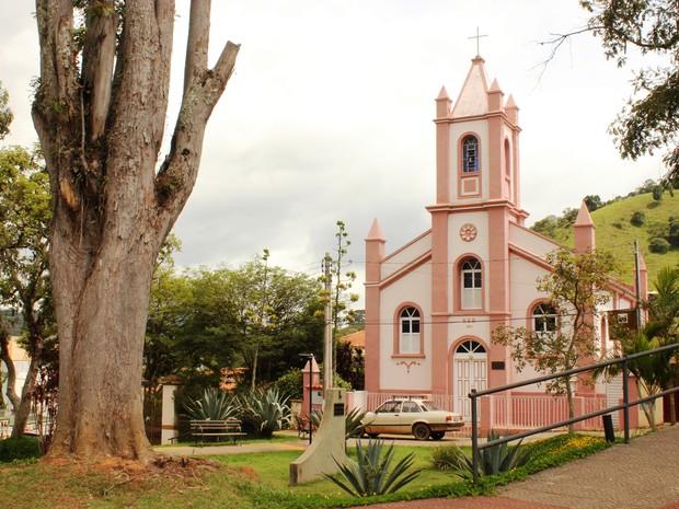 Igreja do Rosário, marco zero da cidade e ponto de partida do passeio (Foto: Divulgação/Museu da Mantiqueira)
