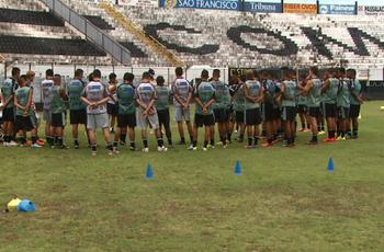 Comercial treina no Palma Travassos (Foto: Ronaldo Oliveira / EPTV)