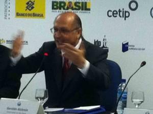Alckmin participa de seminário em escola de Direito em Brasília (Foto: Lucas Salomão/ G1)