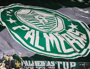 Torcida Palmeiras x Libertad (Foto: Marcos Ribolli)