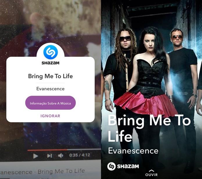 Shazam anuncia integração com Snapchat (Foto: Reprodução/Felipe Vinha)