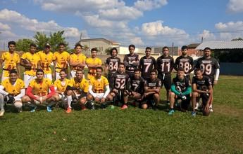 Time de futebol americano investe em amistosos para divulgar esporte no TO