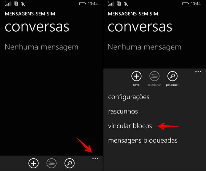 Vinculando bloco de mensagens (Foto: Reprodução/Helito Bijora)