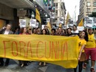 Protesto contra Eduardo Cunha reúne cerca de 200 pessoas em Porto Alegre
