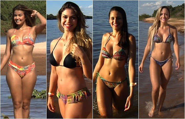 Conheça os perfis das candidatas a Musa do Araguaia 2015, em Goiás (Foto: Reprodução/TV Anhanguera)