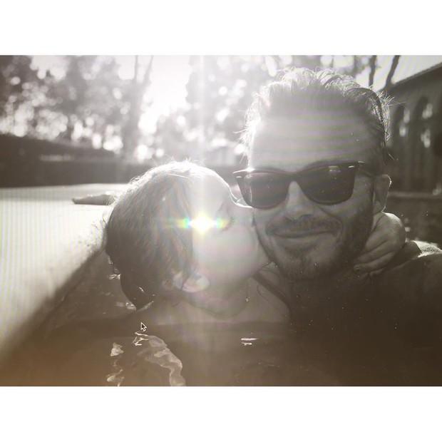 David Beckham e a filha (Foto: Reprodução / Instagram)