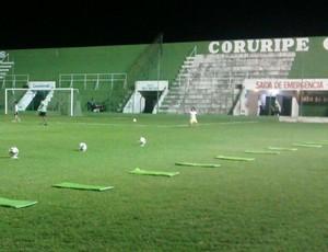 Estádio Gerson Amaral, em Coruripe (Foto: Denison Roma/GloboEsporte.com)