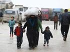Cerca de 35 mil sírios chegaram à fronteira com a Turquia em 48 horas