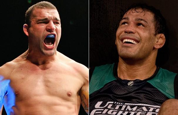 Maurício Shogun e Rodrigo Minotauro são os técnicos do The Ultimate Fighter Brasil 4, que está sendo gravado em Las Vegas (Foto: Getty Images)