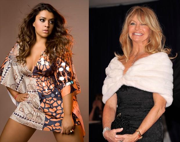 Preta Gil e Goldie Hawn também estarão no evento (Foto: Divulgação e Getty Images )
