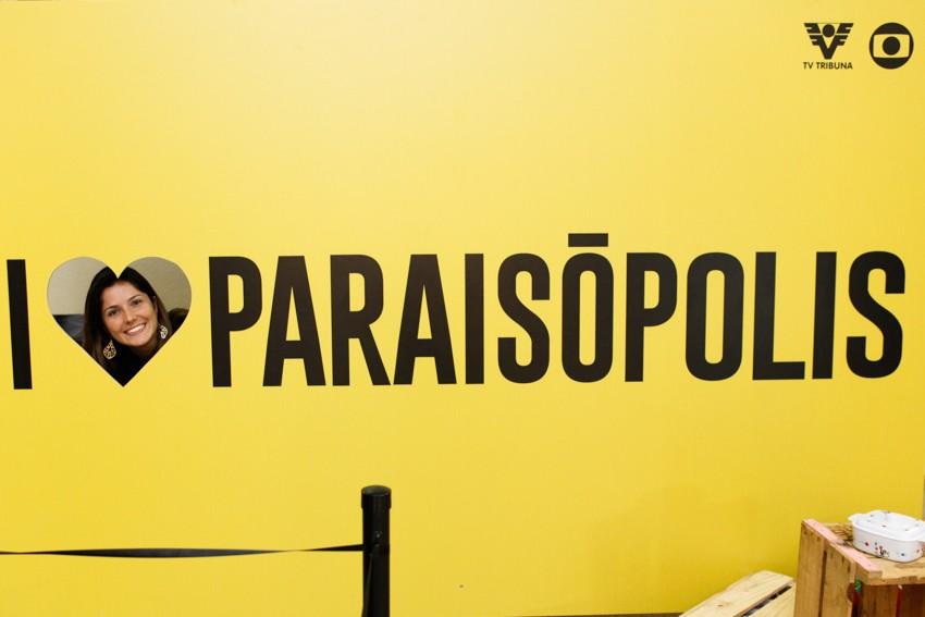 Ação 'I Love Paraisópolis' no Shopping Pátio Iporanga, em Santos (Foto: José Luiz Borges)