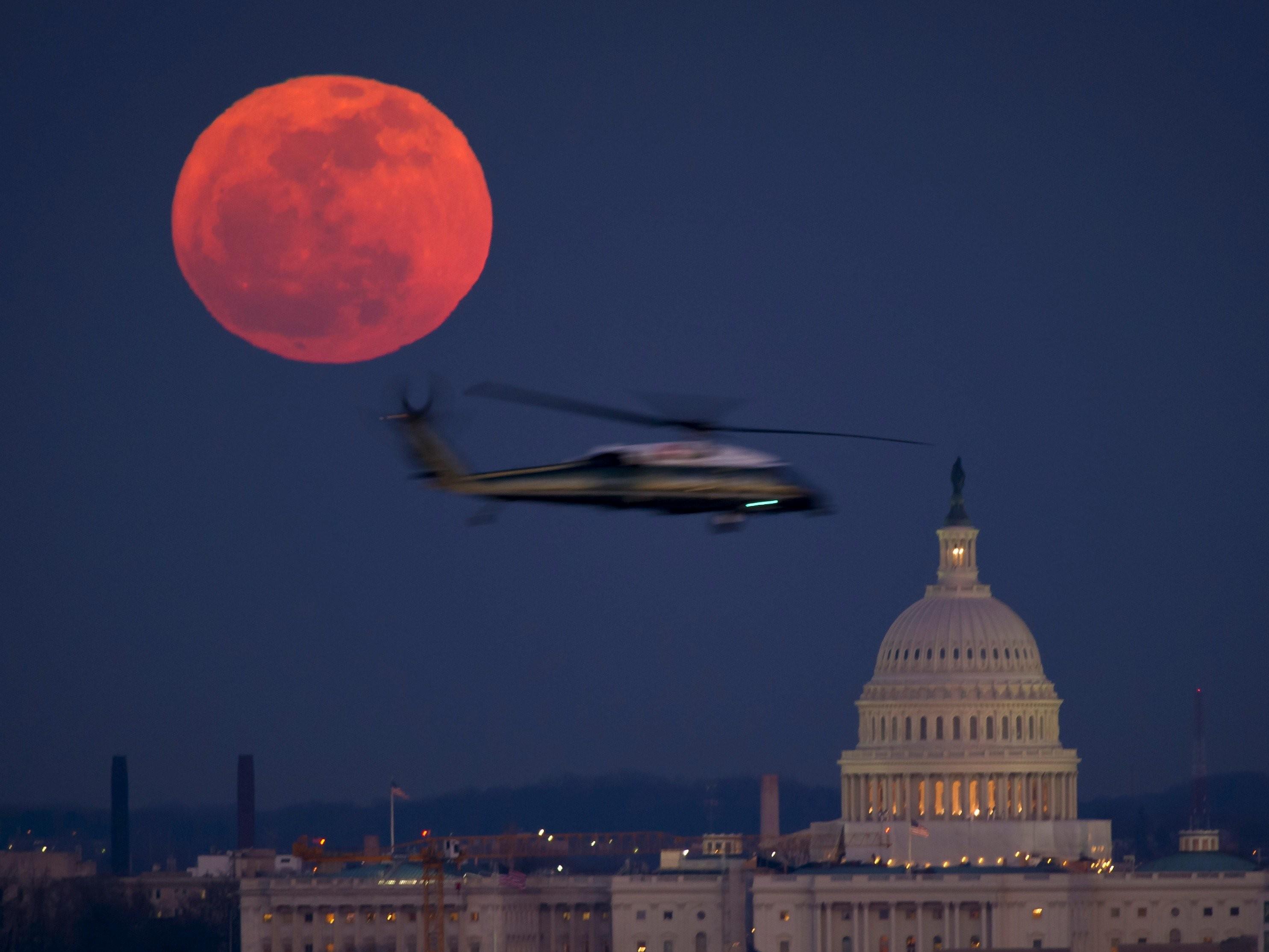 """Efeito causado pela """"Lua de sangue"""" (Foto: Nasa)"""
