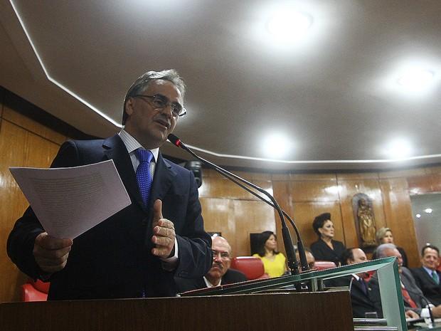 Luciano Cartaxo fez discurso na Câmara Municipal de João Pessoa (Foto: Rafael Passos/Secom-JP)