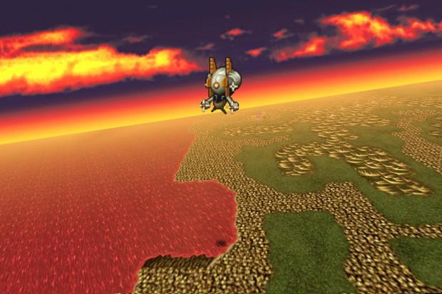 Visão do mapa de 'Final Fantasy V' na versão do jogo para Android (Foto: Divulgação/Square Enix)