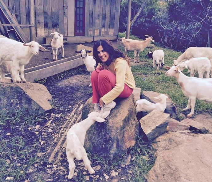 Karina Barum em momento de lazer (Foto: Arquivo pessoal)