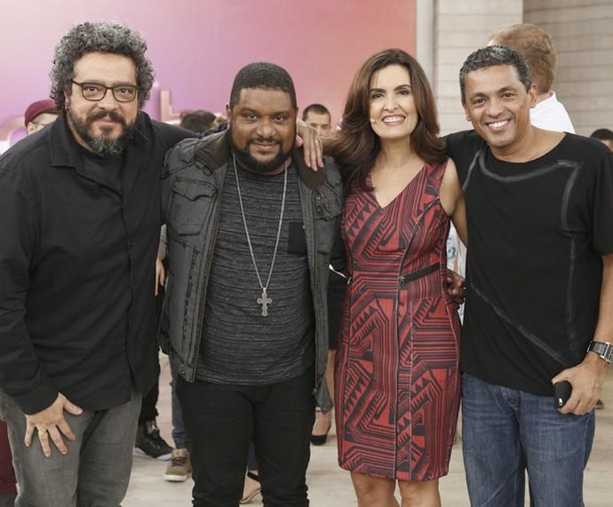 Banda Base também levou seu som para o programa (Foto: Inácio Moraes/Gshow)