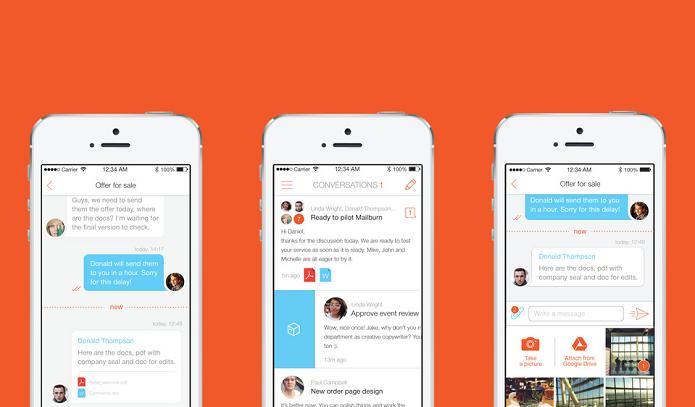 Mailburn: veja suas mensagens de e-mail como conversas (Foto: Divulgação/AppStore)