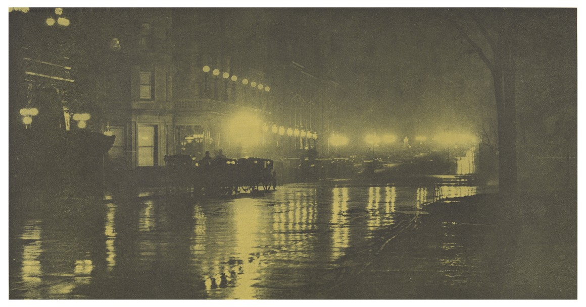 'O brilho da noite', de Alfred Stieglitz, Nova York, 1897 (Foto: The J. Paul Getty Museum, Los Angeles)
