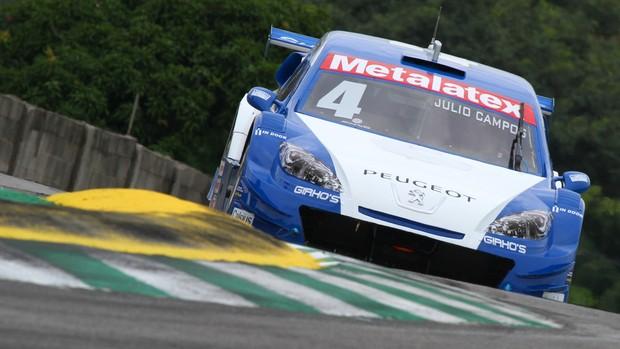 Stock Car - Julio Campos, da equipe Carlos Alvez, em Interlagos (Foto: Vanderley Soares/ Dilvulgação)