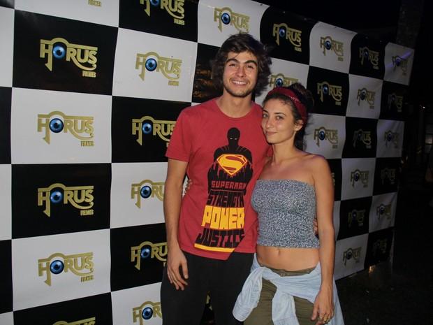 Rafael Vitti e Julia Oristanio em evento na Zona Oeste do Rio (Foto: Rogerio Fidalgo/ Ag. News)