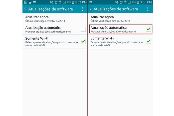 Você também pode definir o Galaxy Note 4 para atualizar automaticamente (Foto: Reprodução/Lucas Mendes)