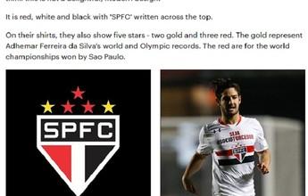 Jornal inglês elege escudo do São Paulo como mais bonito do mundo
