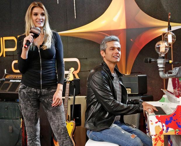 Otaviano Costa arrasa no piano (Foto: Raphael Dias/Gshow)