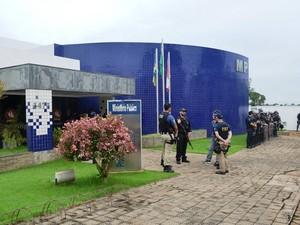 Segurança no MP foi feita por policiais federais, PRF e militares (Foto: Magda Oliveira/G1)