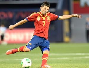 David Villa, Espanha e Irlanda (Foto: Agência AFP)