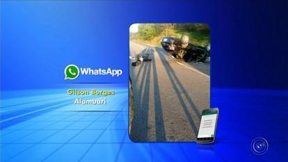 Acidente entre carro e moto deixa três feridos na SP-270 em Alambari