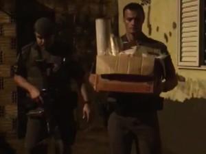 Polícia Militar desmantelou refinaria em Araraquara (Foto: Divulgação/PM)