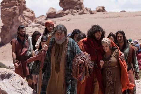 Gravações de 'José do Egito' no Chile (Foto: Edu Moraes/Record)