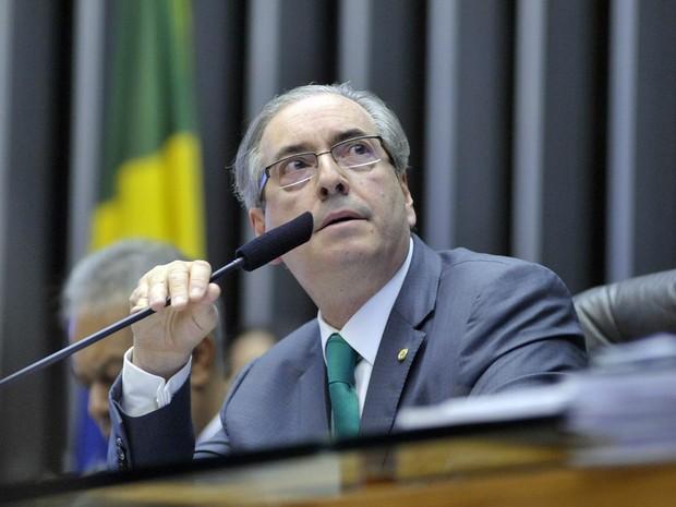 O presidente da Câmara, deputado Eduardo Cunha (PMDB-RJ), em sessão nesta quinta-feira (20) (Foto: Alex Ferreira/Câmara dos Deputados)