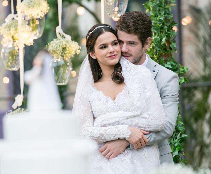 Esse casal é ou não é lindo? (Foto: Isabella Pinheiro/Gshow)